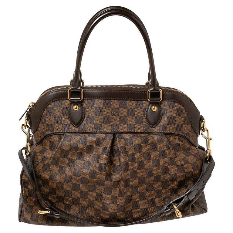 Louis Vuitton Damier Ebene Canvas Trevi GM Bag For Sale