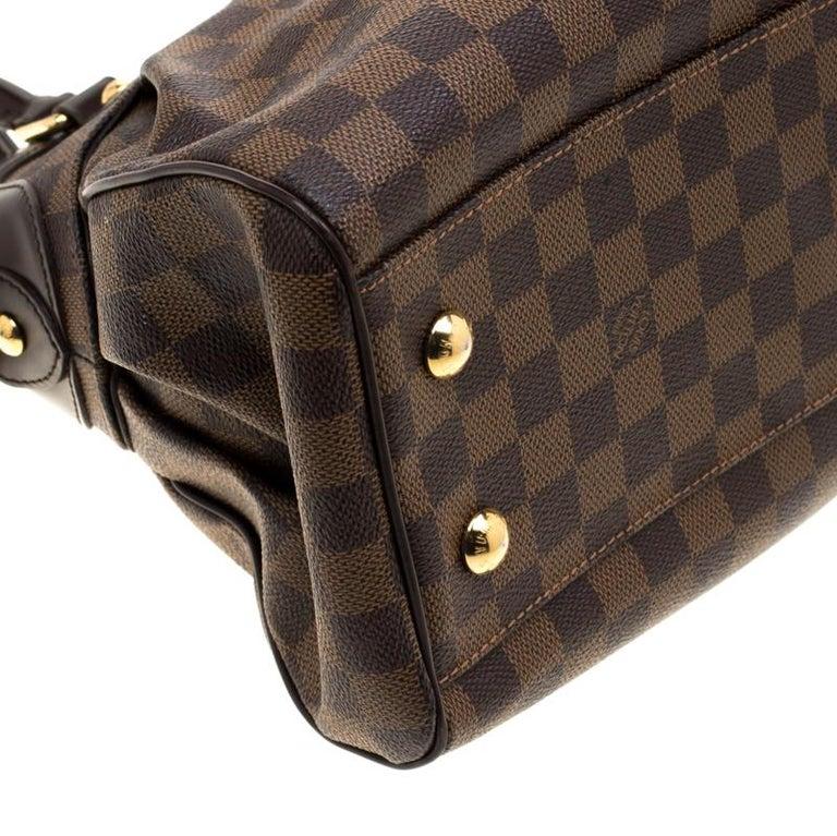 Louis Vuitton Damier Ebene Canvas Trevi PM Bag For Sale 5