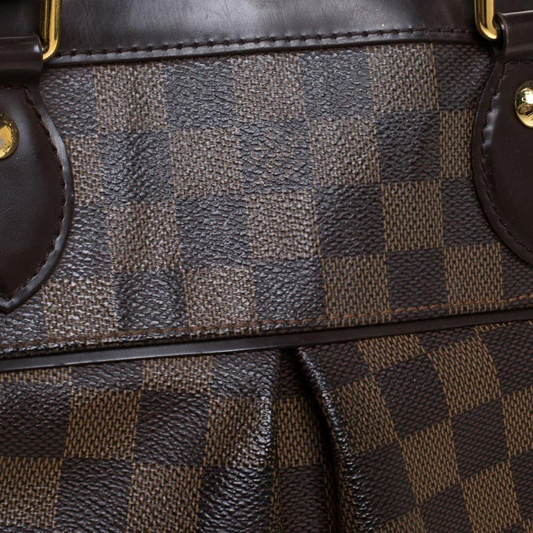 Louis Vuitton Damier Ebene Canvas Trevi PM Bag For Sale 6