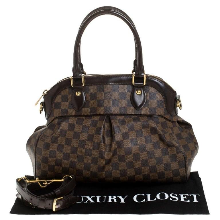 Louis Vuitton Damier Ebene Canvas Trevi PM Bag For Sale 8