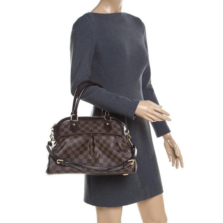 Black Louis Vuitton Damier Ebene Canvas Trevi PM Bag For Sale
