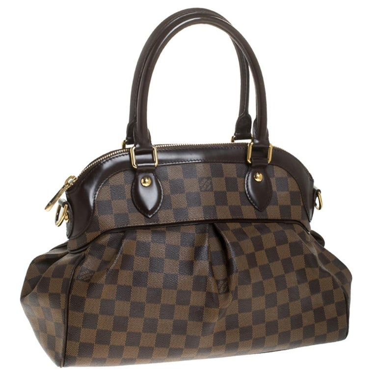 Women's Louis Vuitton Damier Ebene Canvas Trevi PM Bag For Sale