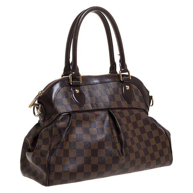 Louis Vuitton Damier Ebene Canvas Trevi PM Bag In Good Condition For Sale In Dubai, Al Qouz 2