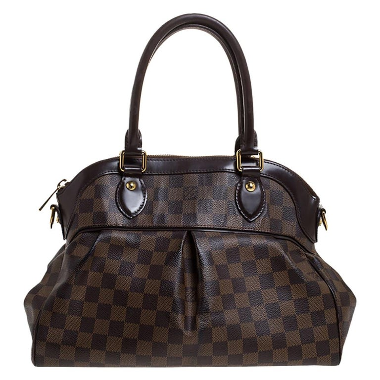 Louis Vuitton Damier Ebene Canvas Trevi PM Bag For Sale