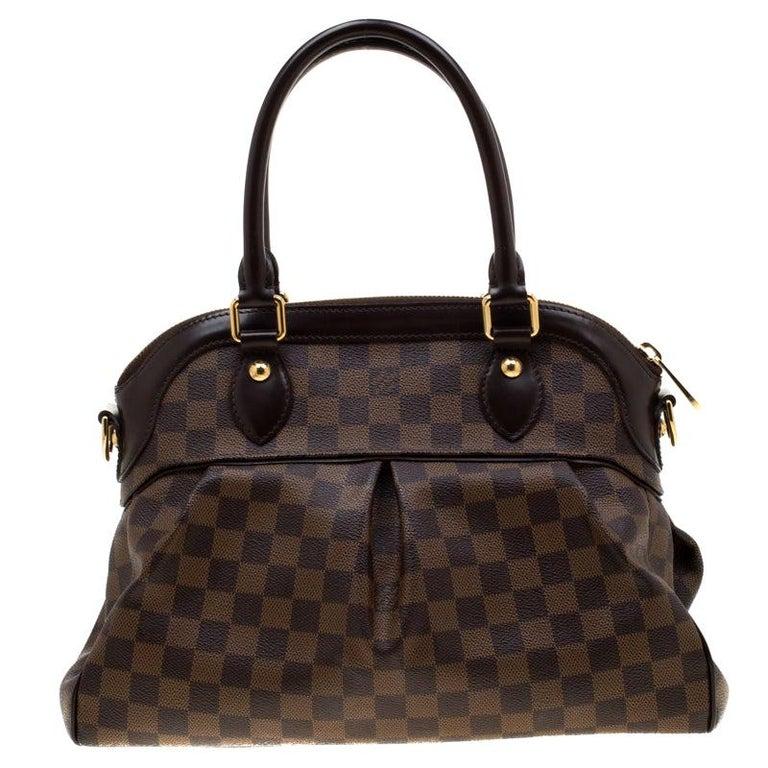 Louis Vuitton Damier Ebene Canvas Trevi PM Bag For Sale
