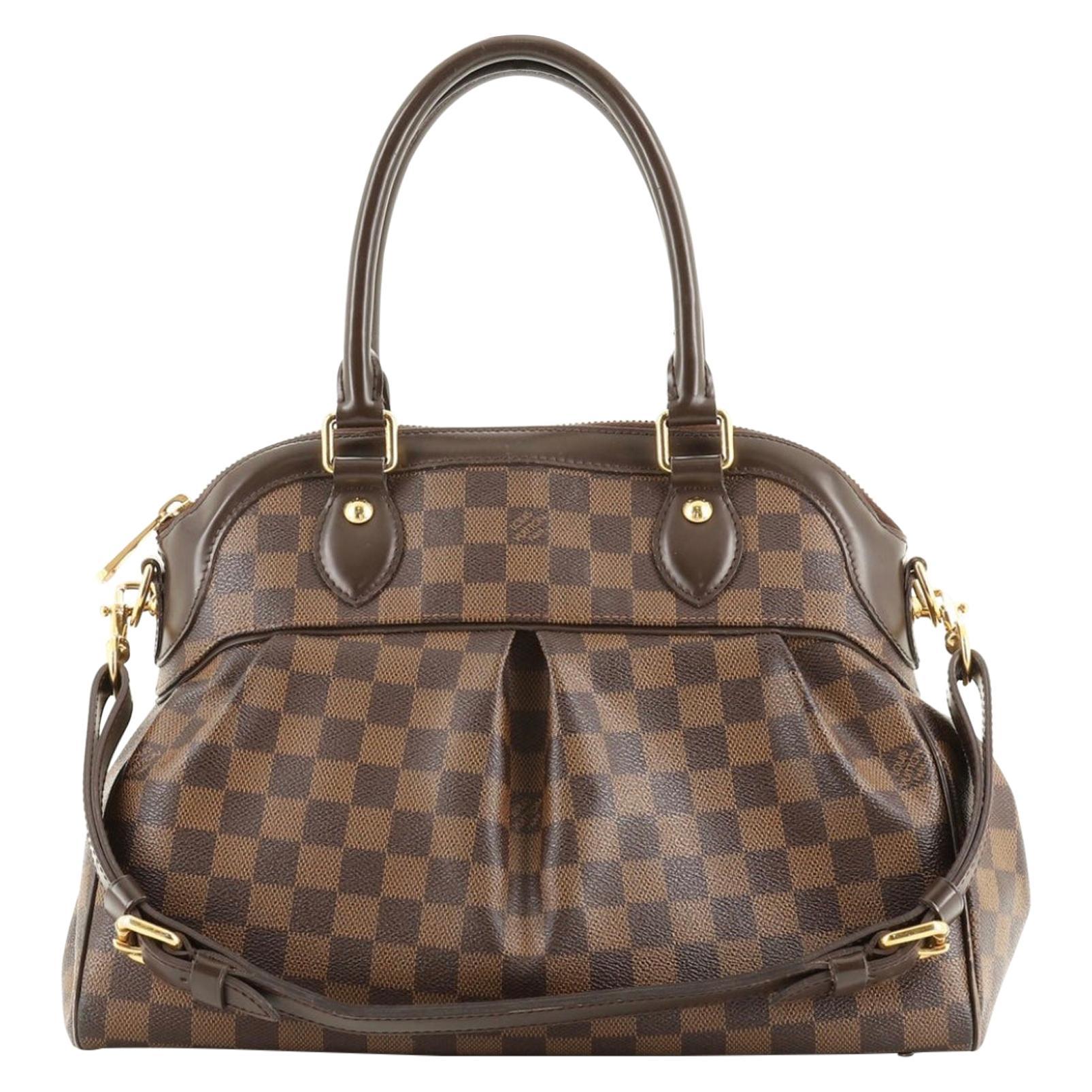 LOUIS VUITTON Damier  Ebene Canvas Trevi  PM Bag, Like New