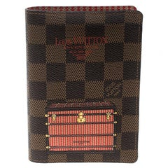 Louis Vuitton Damier Ebene Canvas Trunk and Lock Passport Cover