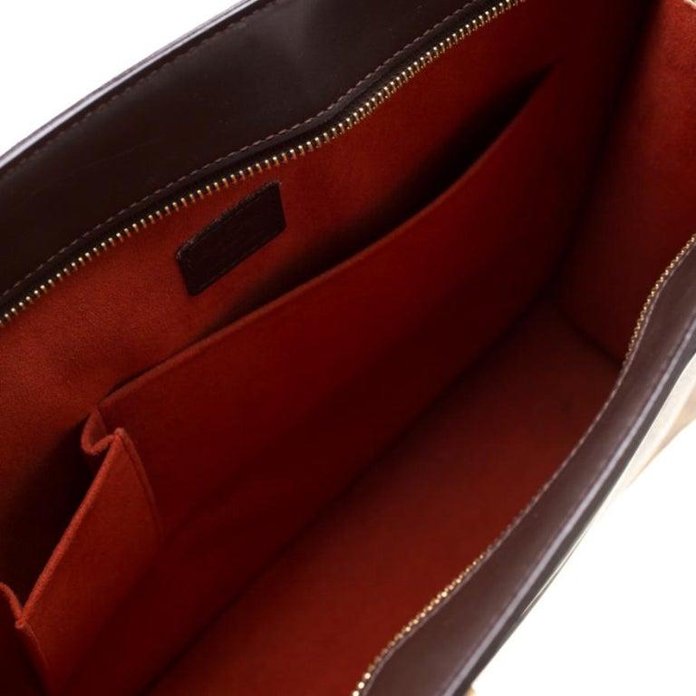 Louis Vuitton Damier Ebene Canvas Venice Sac Plat GM Bag For Sale 5