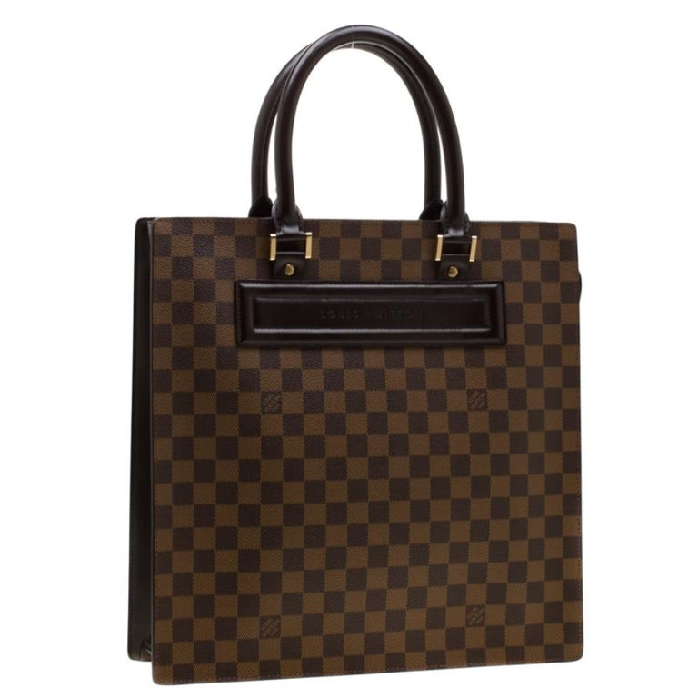 Louis Vuitton Damier Ebene Canvas Venice Sac Plat GM Bag In Good Condition For Sale In Dubai, Al Qouz 2