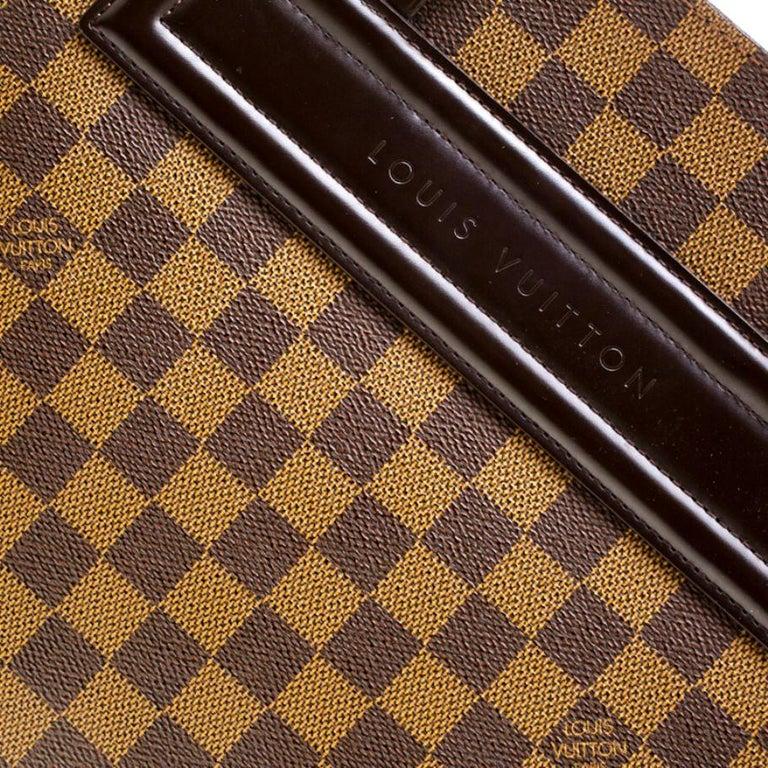 Women's Louis Vuitton Damier Ebene Canvas Venice Sac Plat GM Bag For Sale
