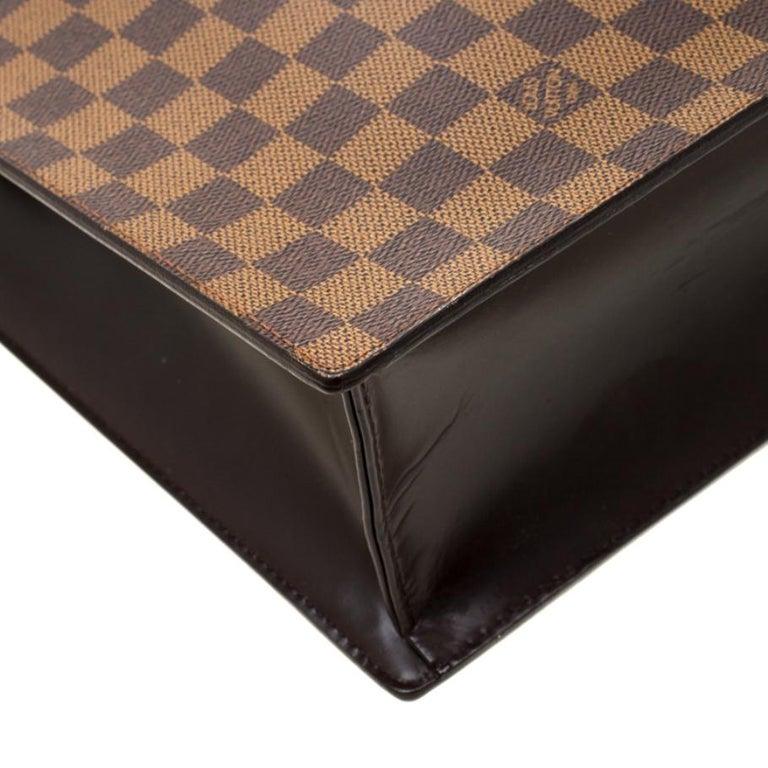 Louis Vuitton Damier Ebene Canvas Venice Sac Plat GM Bag For Sale 1