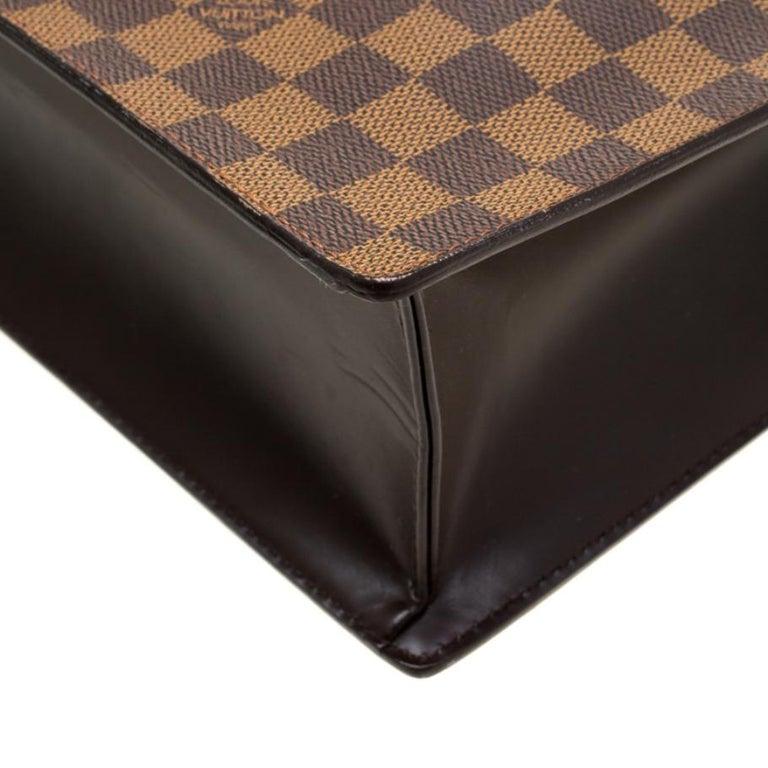 Louis Vuitton Damier Ebene Canvas Venice Sac Plat GM Bag For Sale 2