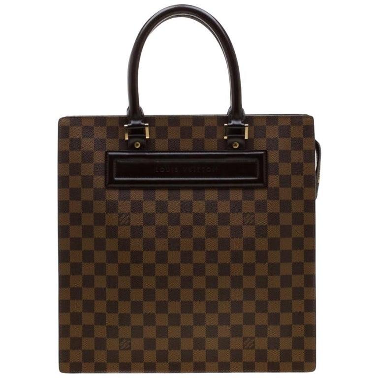 Louis Vuitton Damier Ebene Canvas Venice Sac Plat GM Bag For Sale