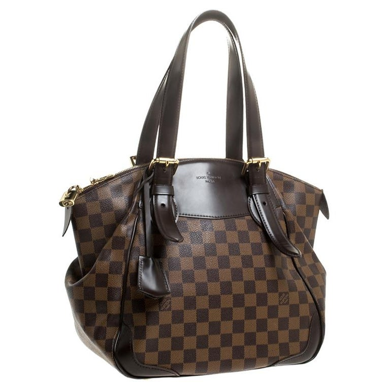 Louis Vuitton Damier Ebene Canvas Verona MM Bag In Good Condition For Sale In Dubai, Al Qouz 2