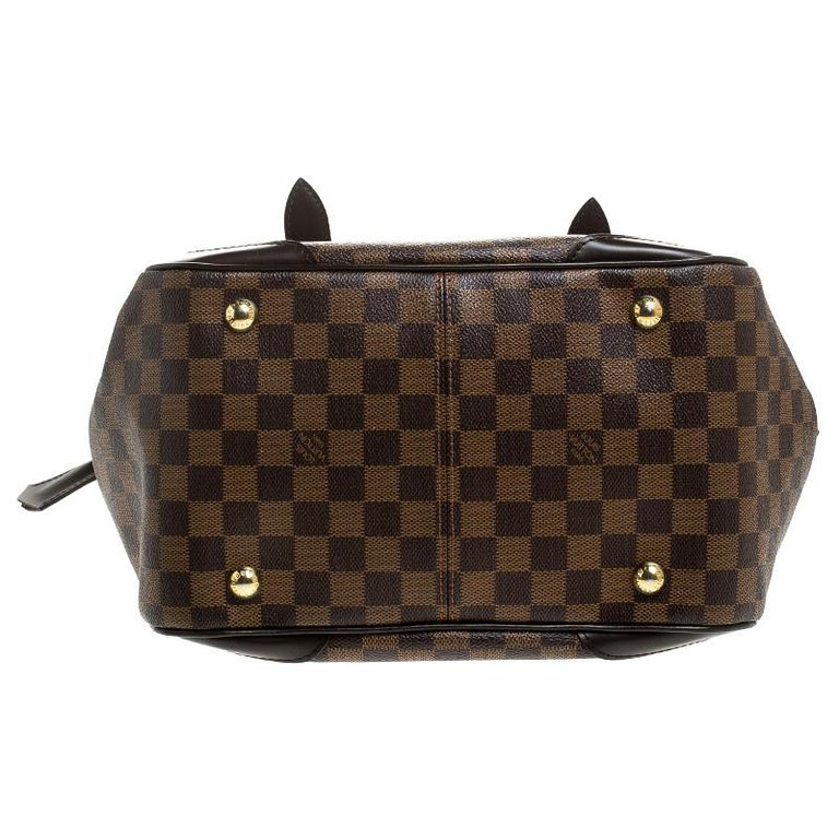 Women's Louis Vuitton Damier Ebene Canvas Verona MM Bag For Sale
