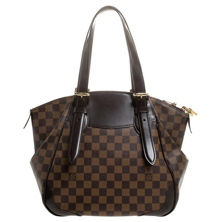 Louis Vuitton Damier Ebene Canvas Verona MM Bag For Sale 1