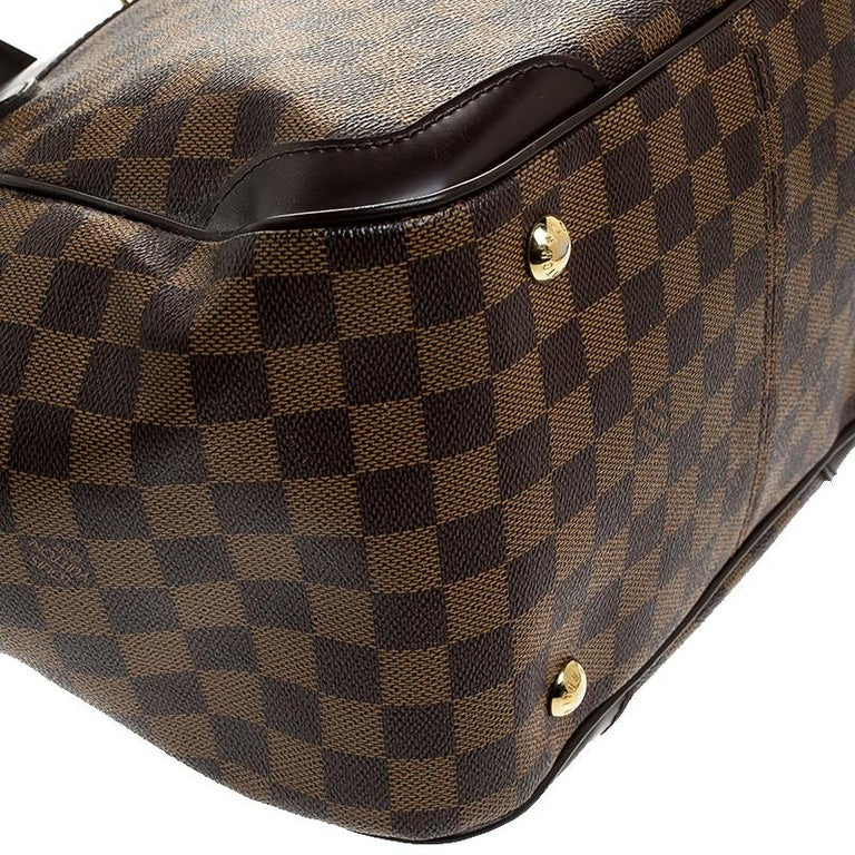 Louis Vuitton Damier Ebene Canvas Verona MM Bag For Sale 2