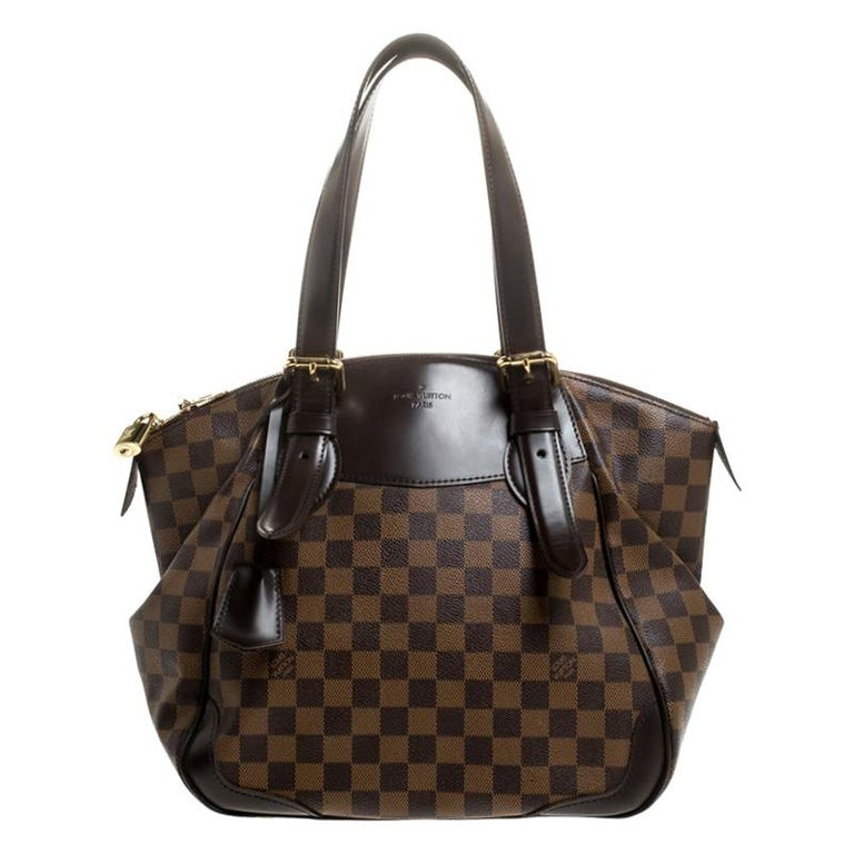 Louis Vuitton Damier Ebene Canvas Verona MM Bag For Sale