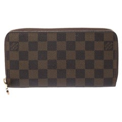 Louis Vuitton Damier Ebene Canvas Zippy Wallet