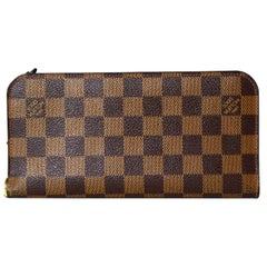 Louis Vuitton Damier Ebene Coated Canvas Insolite Wallet