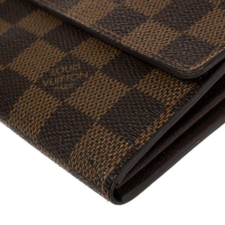 Louis Vuitton Damier Ebene Coated Canvas Sarah Wallet In Good Condition In Dubai, Al Qouz 2