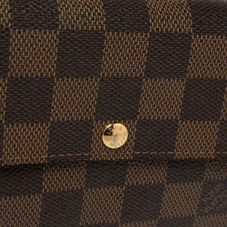 Louis Vuitton Damier Ebene Coated Canvas Sarah Wallet 2