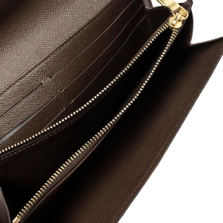 Louis Vuitton Damier Ebene Coated Canvas Sarah Wallet 3
