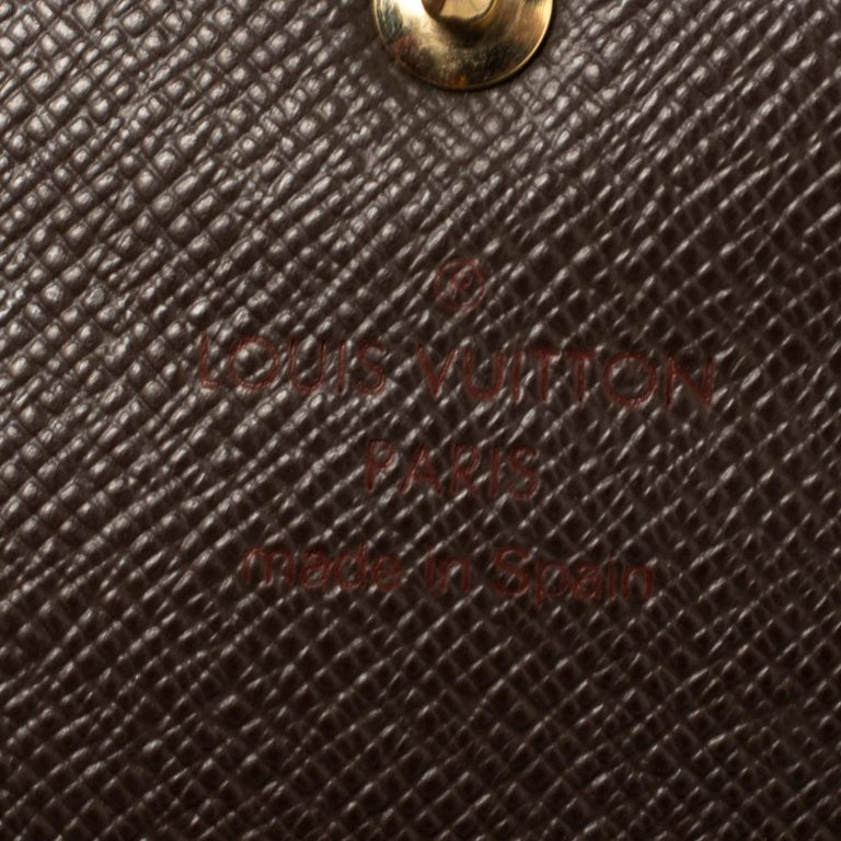 Louis Vuitton Damier Ebene Coated Canvas Sarah Wallet 4