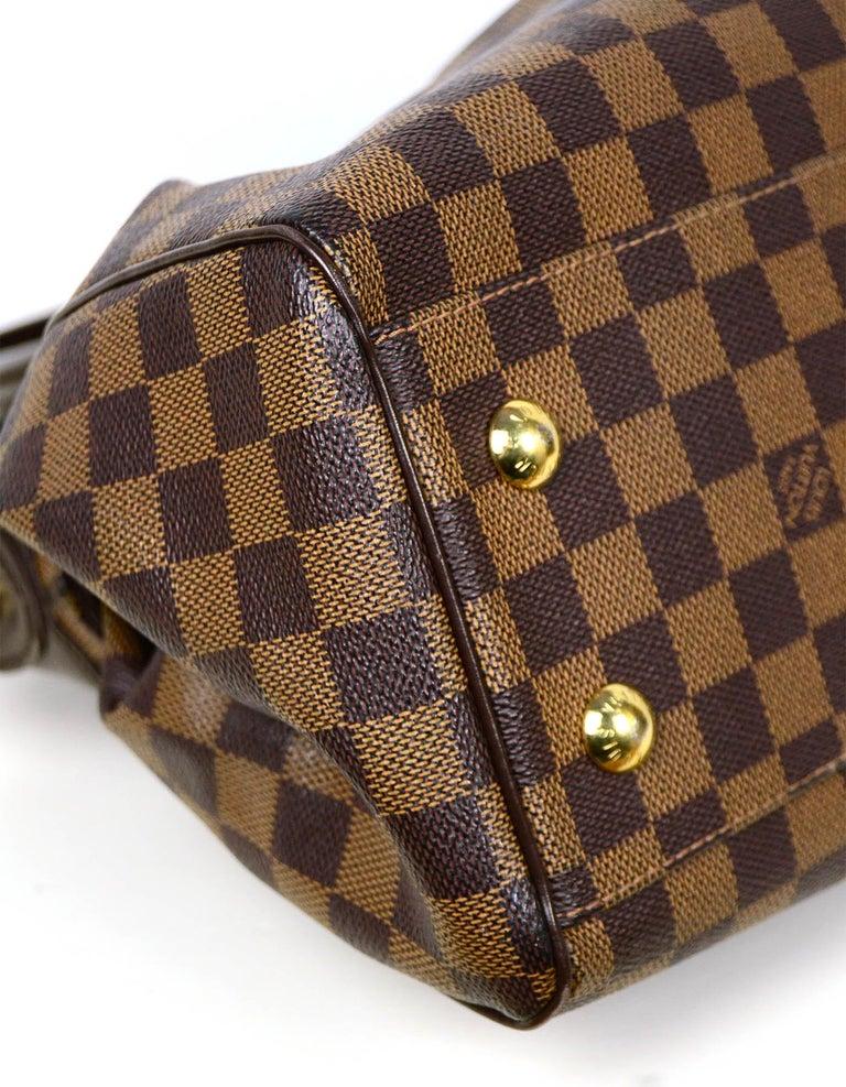 Women's Louis Vuitton Damier Ebene Coated Canvas Trevi PM Bag w/ Detachable Strap For Sale