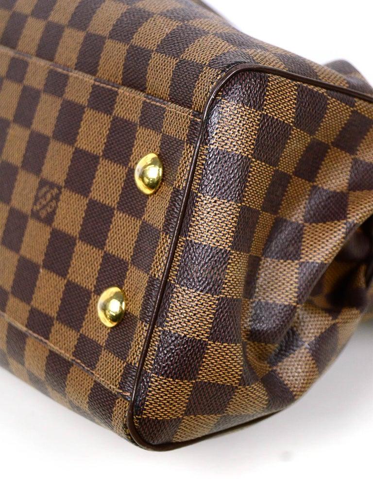 Louis Vuitton Damier Ebene Coated Canvas Trevi PM Bag w/ Detachable Strap For Sale 1