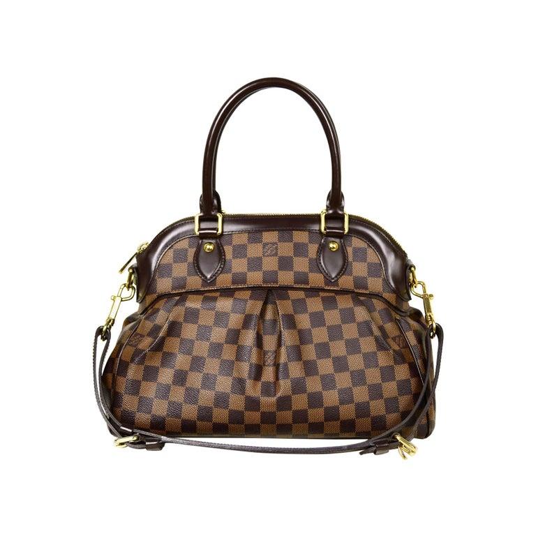 Louis Vuitton Damier Ebene Coated Canvas Trevi PM Bag w/ Detachable Strap For Sale