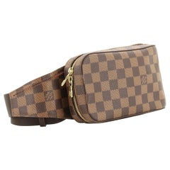 LOUIS VUITTON Damier Ebene Geronimos Waist Bag/ Hip Bag/Fanny Pack/Cross Body