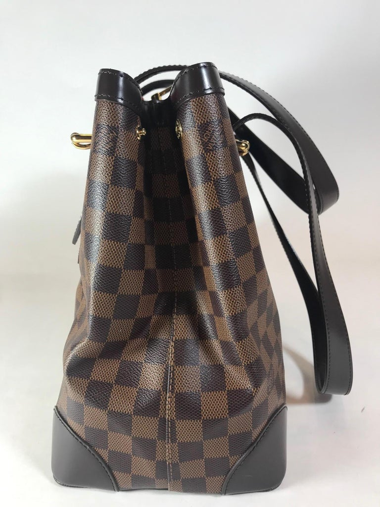 4df22d891458 Black Louis Vuitton Damier Ebene Hampstead PM For Sale