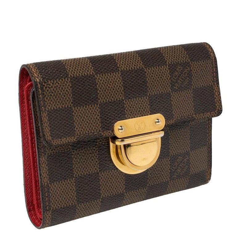 Black Louis Vuitton Damier Ebene Koala Wallet For Sale