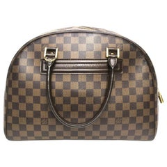 Louis Vuitton Damier Ebene Leather Nolita Bag