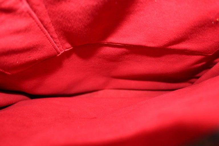 Women's Louis Vuitton Damier Ebene Leather Sac Plat Bag For Sale