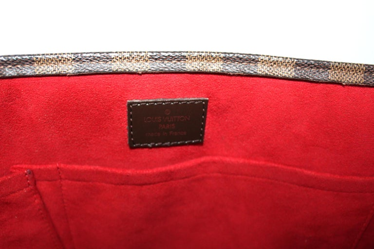 Louis Vuitton Damier Ebene Leather Sac Plat Bag For Sale 1
