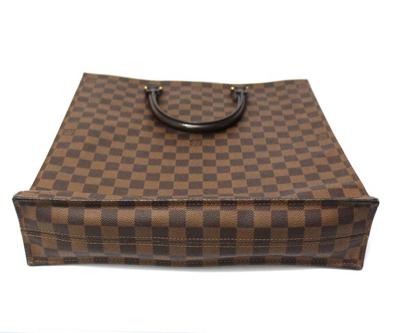 Louis Vuitton Damier Ebene Leather Sac Plat Bag For Sale 2