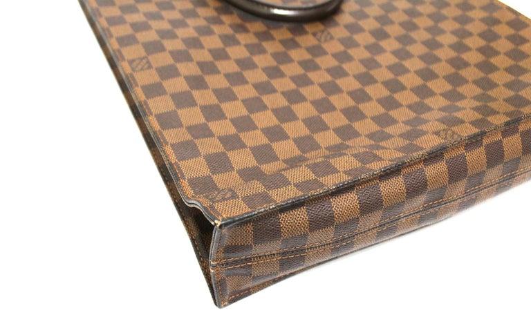 Louis Vuitton Damier Ebene Leather Sac Plat Bag For Sale 3