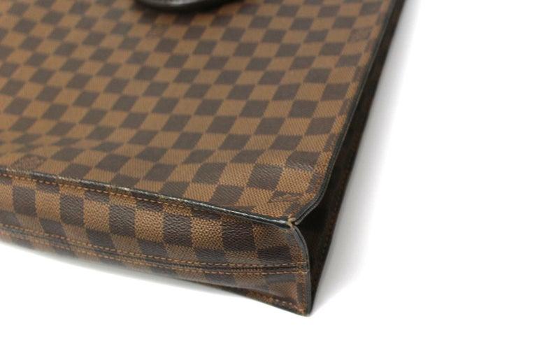 Louis Vuitton Damier Ebene Leather Sac Plat Bag For Sale 4