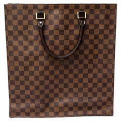 Louis Vuitton Damier Ebene Leather Sac Plat Bag