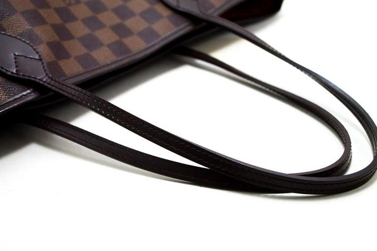 Louis Vuitton Damier Ebene Neverfull MM Shoulder Bag Canvas Tote For Sale 7