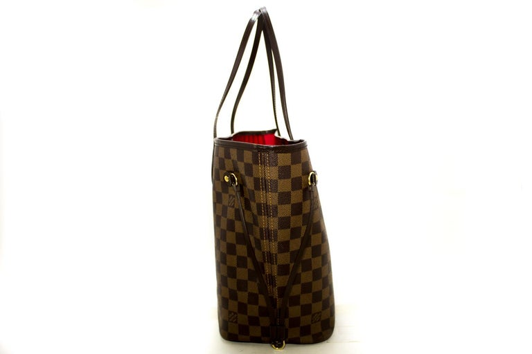 Louis Vuitton Damier Ebene Neverfull MM Shoulder Bag Canvas Tote In Good Condition For Sale In Takamatsu-shi, JP