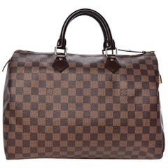 LOUIS VUITTON Damier Ebene Speedy 35, N41363 , Like New