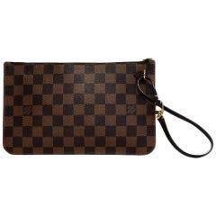 Louis Vuitton Damier Ebene Zip Top Neverfull Insert/Wrislet Bag