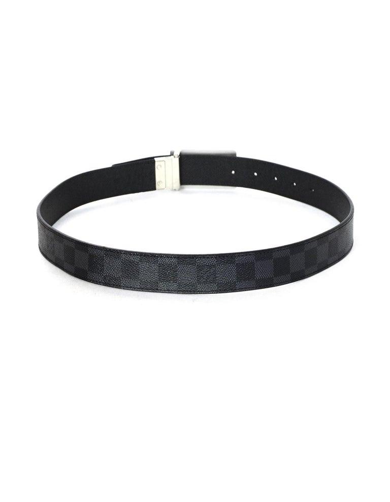 Women's or Men's Louis Vuitton Damier Graphite 35mm Inventeur Reversible Belt sz 85cm/34