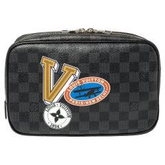 Louis Vuitton Damier Graphite Canvas LV League Toilet Pouch GM