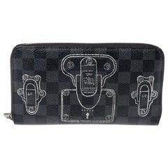 Louis Vuitton Damier Graphite Canvas Trunks and Locks Zippy Organizer Wallet