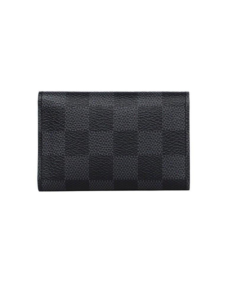 Black Louis Vuitton Damier Graphite Coated Canvas Key Holder For Sale
