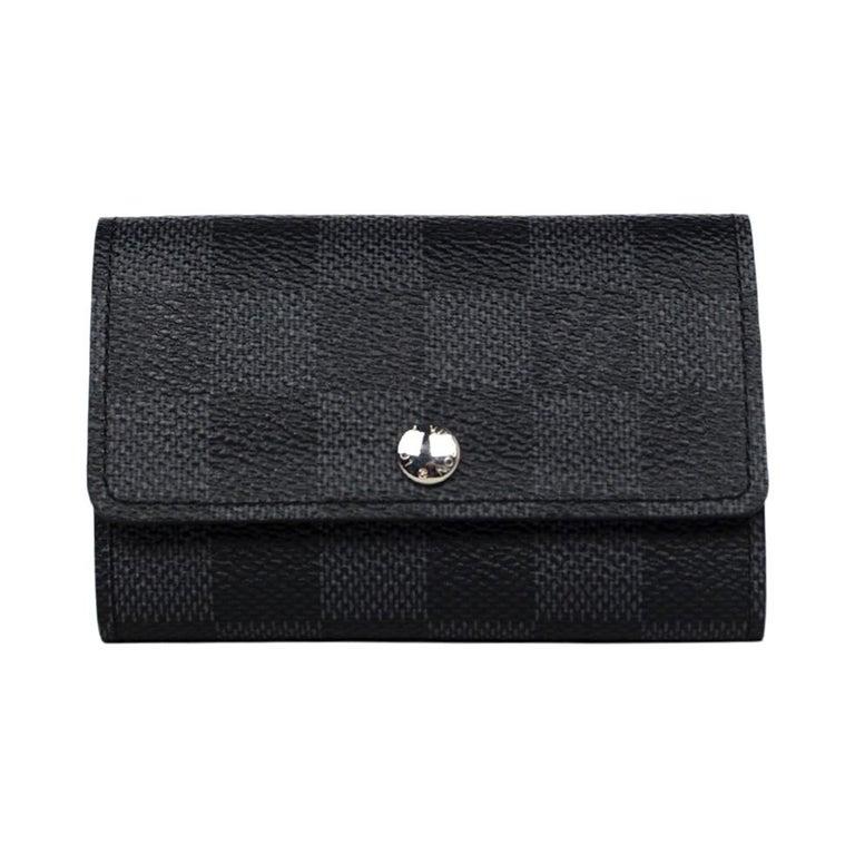 Louis Vuitton Damier Graphite Coated Canvas Key Holder For Sale